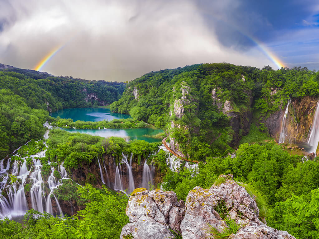 National Parks Krka Waterfalls And Plitvice Lakes Split